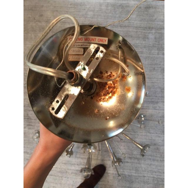 2010s Jonathan Adler Polished Nickel Sputnik Chandelier For Sale - Image 5 of 7