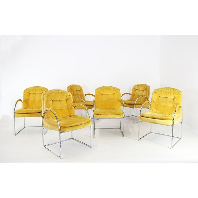 Set of 6 Chairs by Milo Baughman From 1970. American Design. For Sale - Image 6 of 6