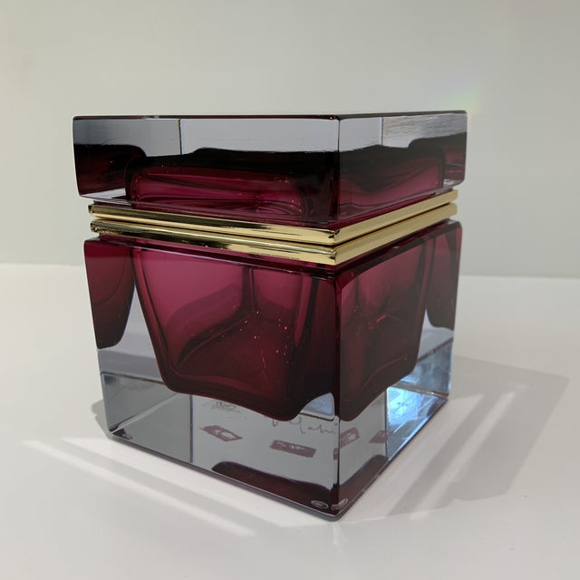 This gorgeous Murano box in Magenta was recently made and in excellent showroom condition. Authentic and comes with signed...