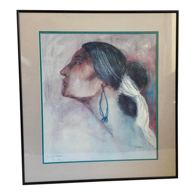 Vintage R.C. Gorman Navajo Print For Sale