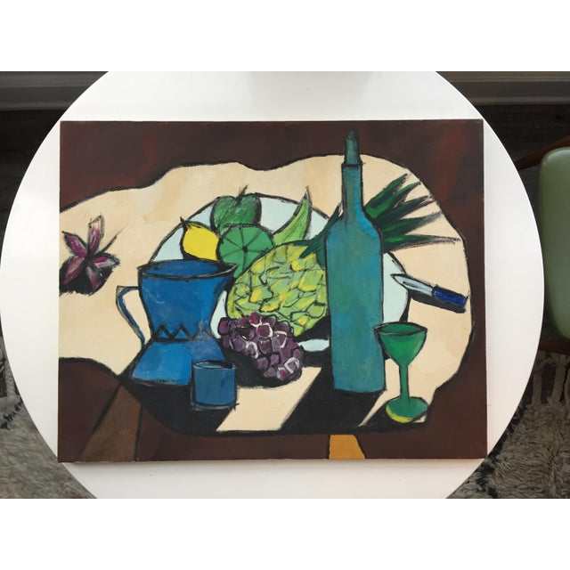 From the vibrant colors and high-contrast, to the abstracted portrayals of everyday objects, this still-life is SO...
