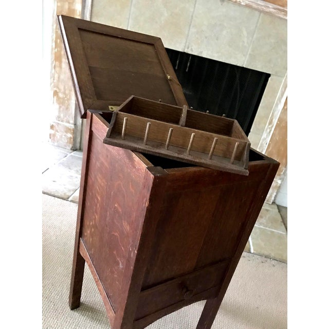 Americana Vintage Antique Sewing Cabinet For Sale - Image 3 of 10 - Vintage Antique Sewing Cabinet Chairish