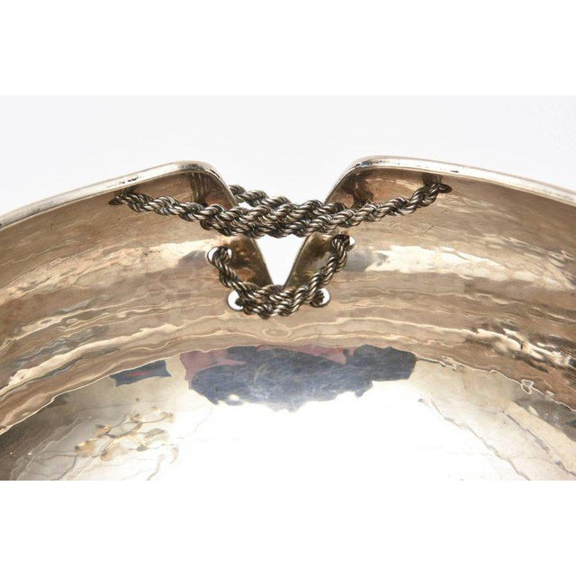 Italian Hand Forged Hallmarked Sterling Silver Corset Bowl - Image 9 of 11
