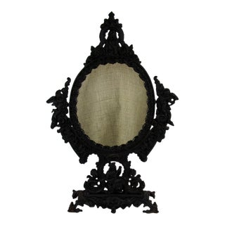 1960s Vintage French Stand Table Mirror For Sale