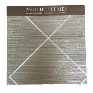 Philip Jeffries White on Elephant Manilla Hemp Wallpaper - 40 Yards For Sale