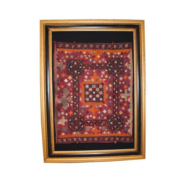 Vintage Middle Eastern Tapestry, Framed For Sale - Image 4 of 4