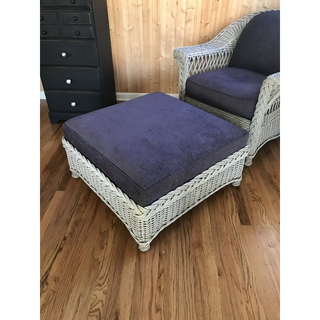 2010s Palecek Designer Lounge Chair & Ottoman - a Pair For Sale - Image 5 of 8