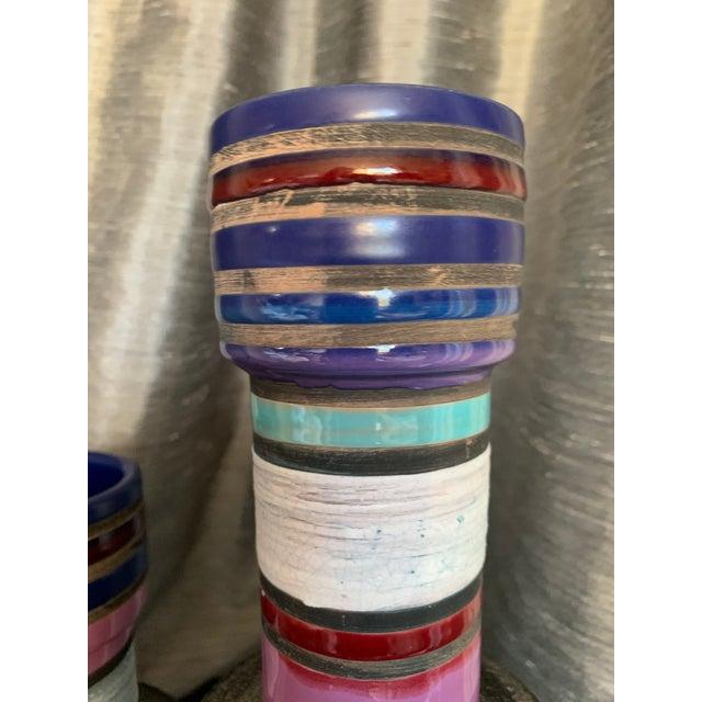"""Bitossi 1950s Vintage Aldo Londi """"Cambogia"""" Ceramic Vases- a Pair For Sale - Image 4 of 10"""