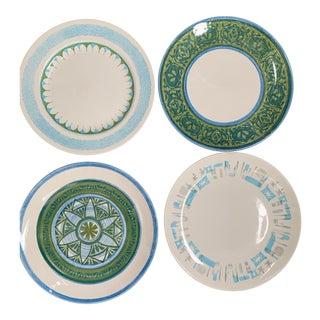 Mismatched Ironstone Dinner Plates - Set of 4 For Sale