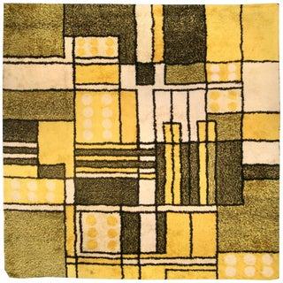 Yellow Vintage Modernist Rug For Sale