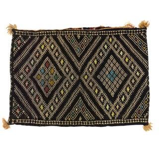 Vintage Camel Saddle Bag / Kilim Pillow Cover For Sale