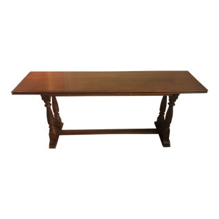 Baroque Henredon Fold Out Library Table For Sale