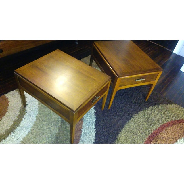 Lane Mid-Century Single Drawer End Tables - A Pair - Image 4 of 10