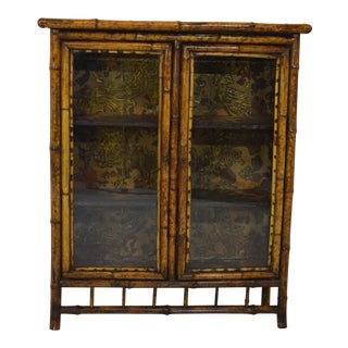 19th-Century Bamboo/Chinioserie Bookcase For Sale