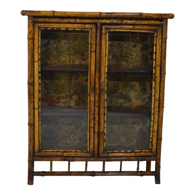 19th-Century Bamboo/Chinioserie Bookcase For Sale