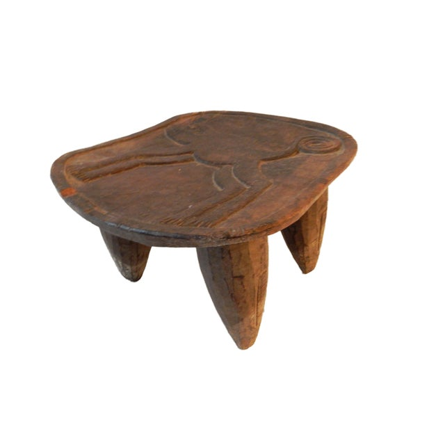 Low Milk Senufo Stool W/Chameleon For Sale In New York - Image 6 of 7