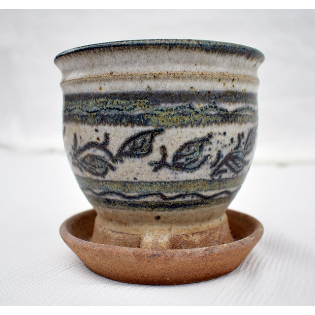 Vintage Small Flower Pot For Sale - Image 4 of 4