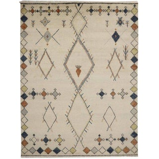 Moroccan Area Rug With Primitive Charm For Sale