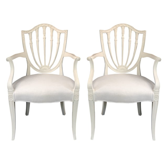 1930s Hepplewhite Shield-Back Chairs — a Pair For Sale