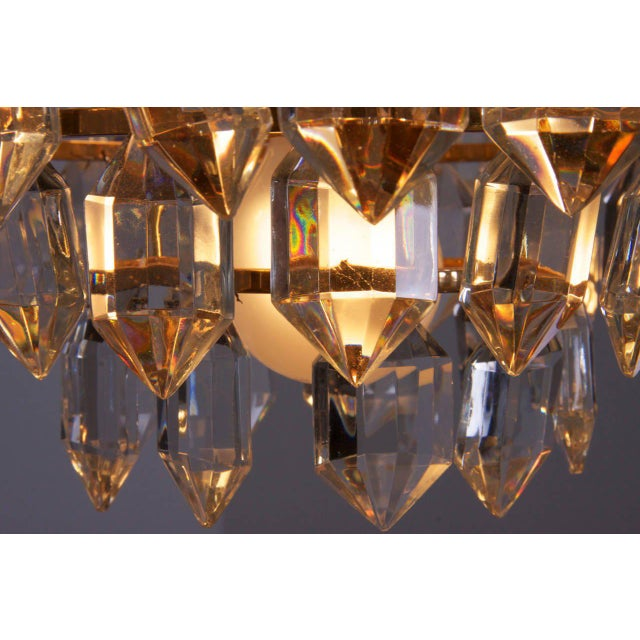 Mid-Century Modern Stunning Pair of Seven-Tier Crystal Glass Bakalowits Chandeliers For Sale - Image 3 of 8