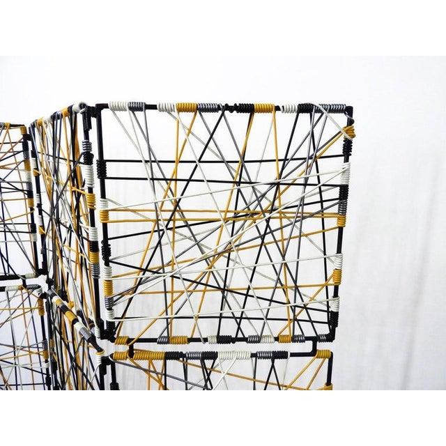 Mid-Century Modern Mid-Century Modern Vinyl Cord Room Divider For Sale - Image 3 of 5