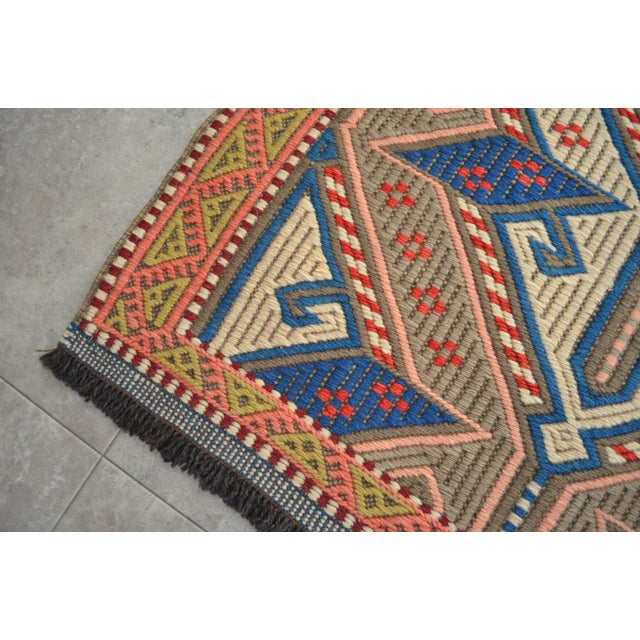 """Bronze Vintage Masterpiece Braided Rug. Hand Woven Small Area Rug - 3' 7"""" X 6' For Sale - Image 8 of 10"""
