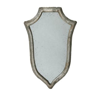 German SilverShield Shaped Mirror