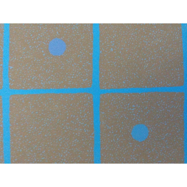 """Judith Azur """"Checkers I-A"""" 1973 Silkscreen on Paper 25 1/8"""" x 25 1/4"""", Unframed AP Signed in pencil lower right Excellent..."""