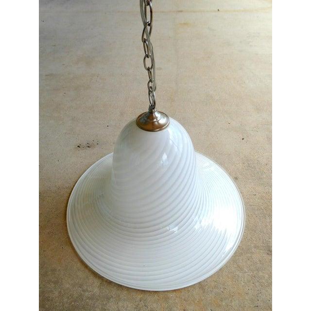 Mid-Century Modern 1960s Murano Art Glass Pendant Light Fixture For Sale - Image 3 of 10