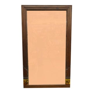 Vintage Indian Wooden Mirror For Sale