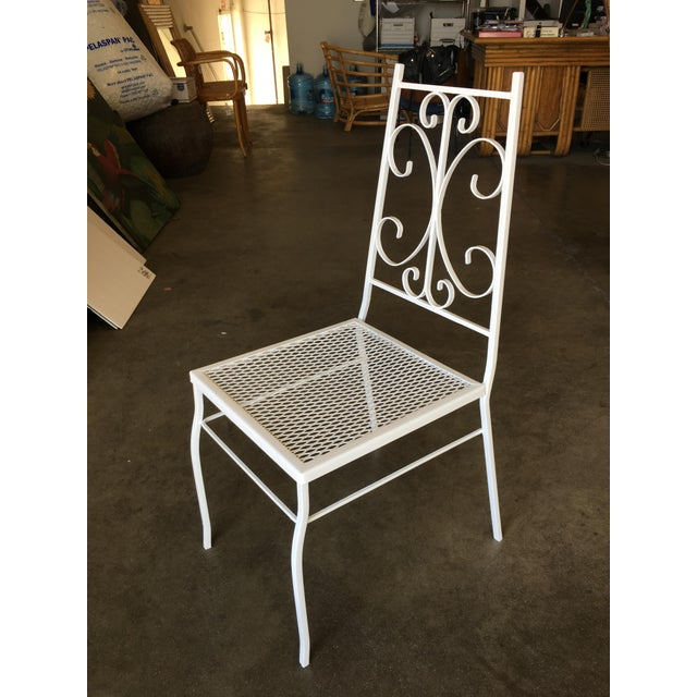 Mid Century Outdoor/Patio Side Chair With Scrolling Pattern - Set of 4 For Sale In Los Angeles - Image 6 of 9