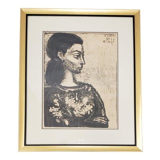 """Femme Au Corsage a Fleurs"" Offset Lithograph After Pablo Picasso For Sale"