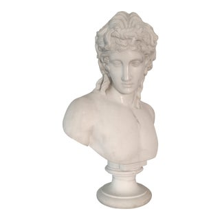 Early 20th Century Antique Marble Bust of the Eros of Centocelle Sculpture For Sale