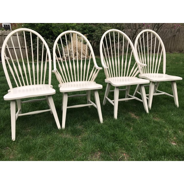 Farmhouse Windsor Chairs - Set of 4 - Image 4 of 9