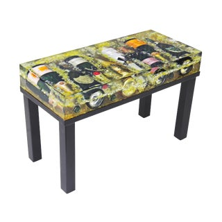 Modern Industrial Champagne Bottles Coffee Table For Sale