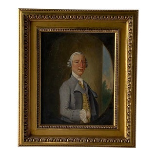 19th C. British School Portrait of a Gentleman Painting For Sale