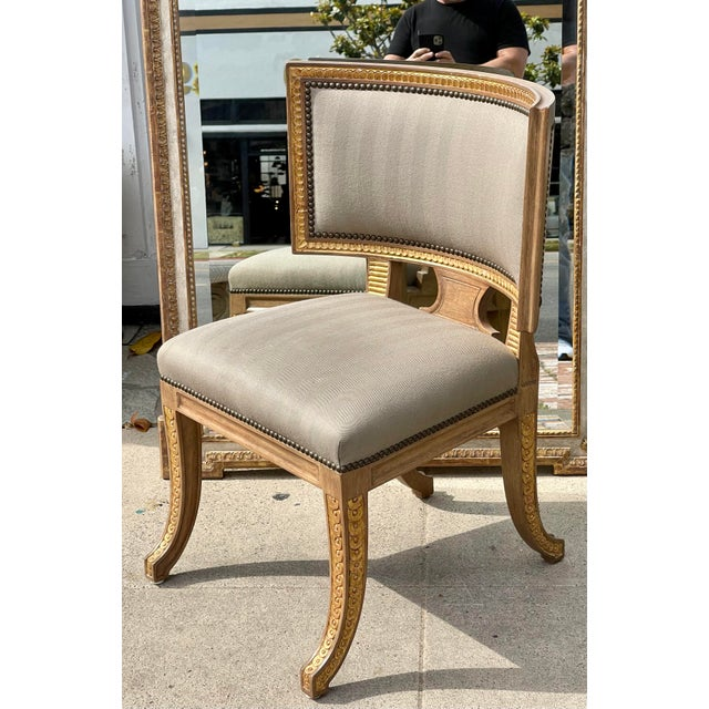 Wood Quatrain by Dessin Fournir Swedish Neoclassical Style Side Chair For Sale - Image 7 of 7