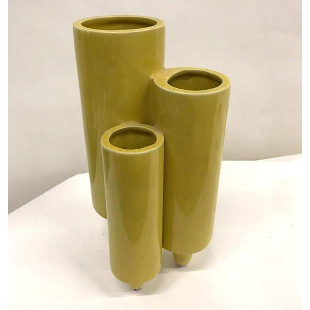 Asian Mid-Century Italian and Japanese Ceramic Vase For Sale - Image 3 of 7