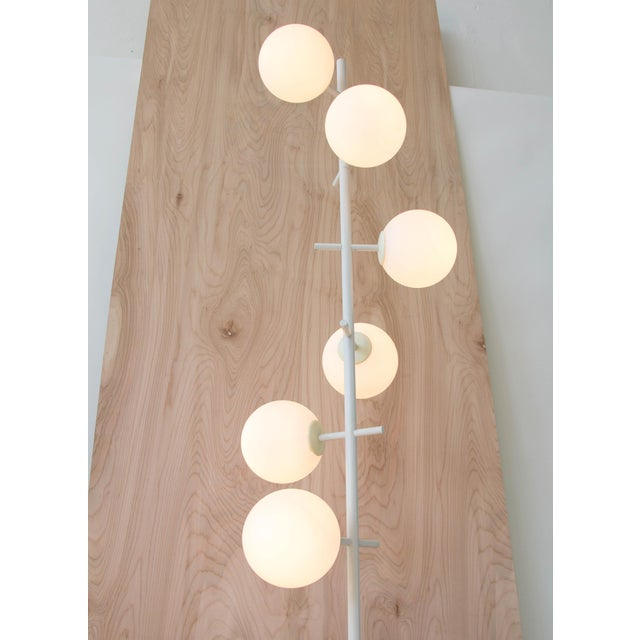 White Rare Temde Leuchten Frosted Globes Floor Lamp For Sale - Image 8 of 11