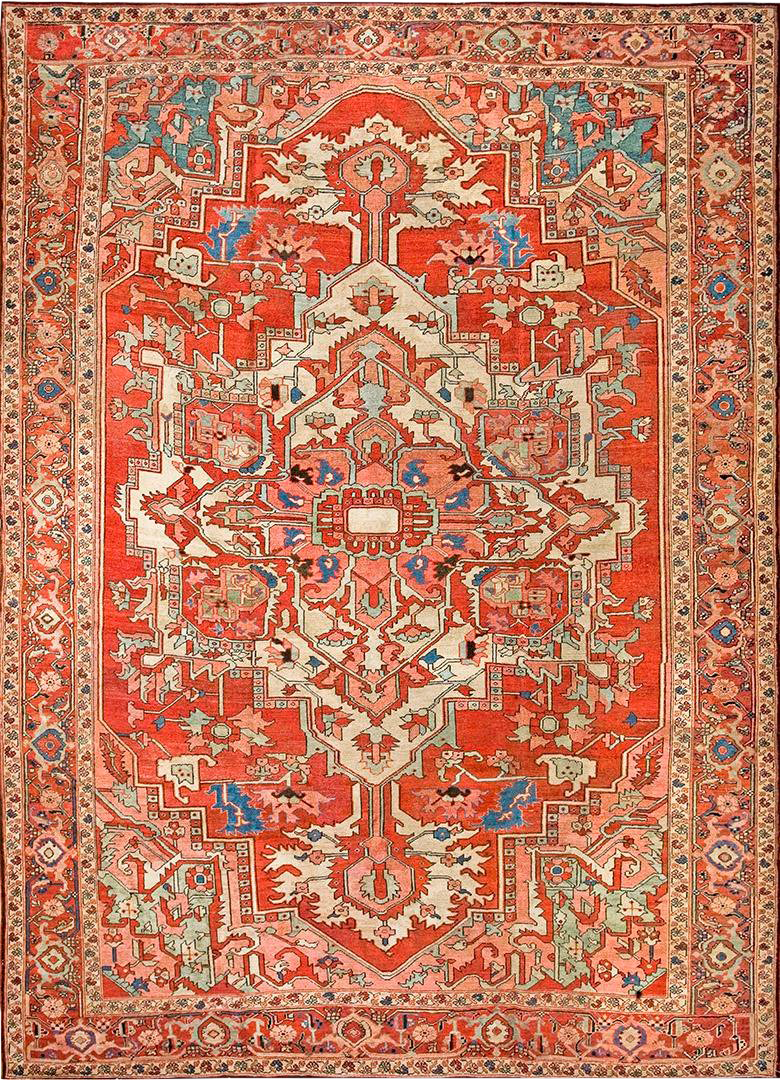 Antique Serapi Rug 8 2 10 9 Chairish