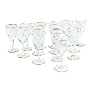 Vintage Baccarat Crystal White Wine Service for 14 People For Sale