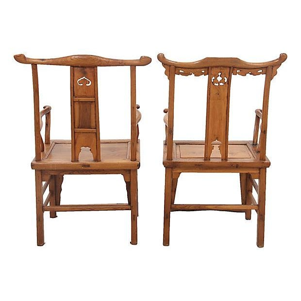 Elm Antique Yolk Chairs - a Pair For Sale - Image 7 of 7