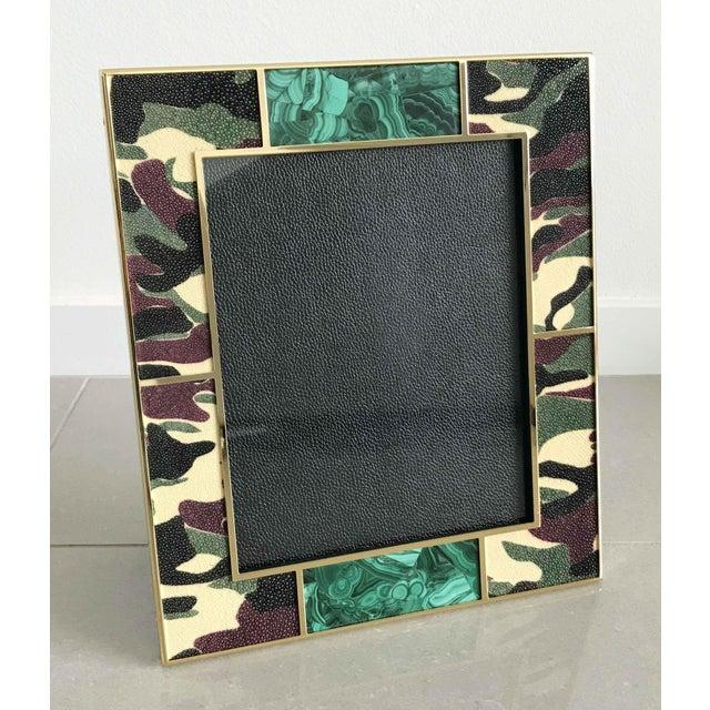 Fabio Ltd Camoflauge Shagreen Photo Frames For Sale - Image 4 of 10
