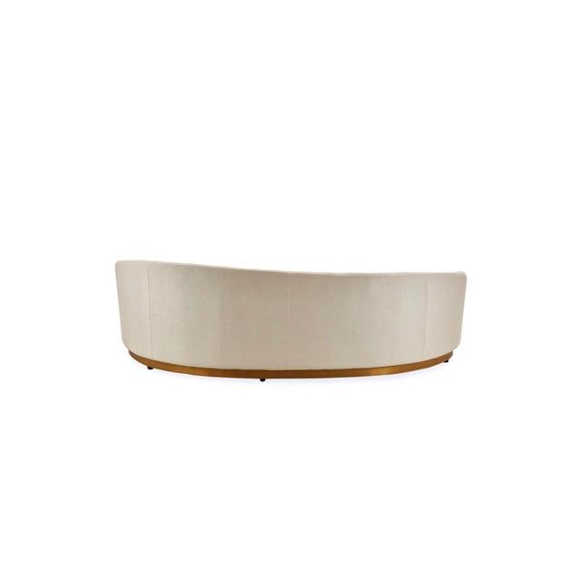 Vesta Marcella Curved Sofa in White For Sale - Image 4 of 5