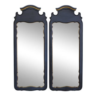 Mid Century Scalloped Mirrors, a Pair For Sale