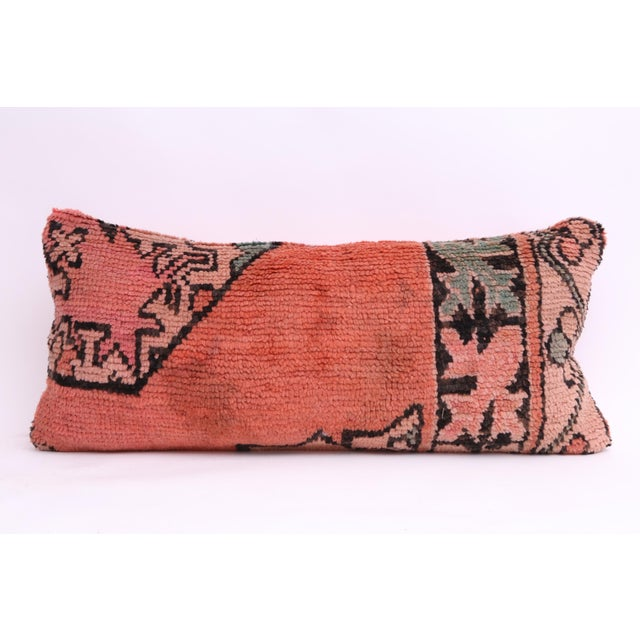 Vintage Moroccan Rug Lumbar Pillow Cover - Image 2 of 4