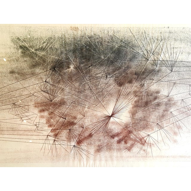 Early Harry Bertoia Monoprint Pencil Signed on Verso - Image 1 of 6