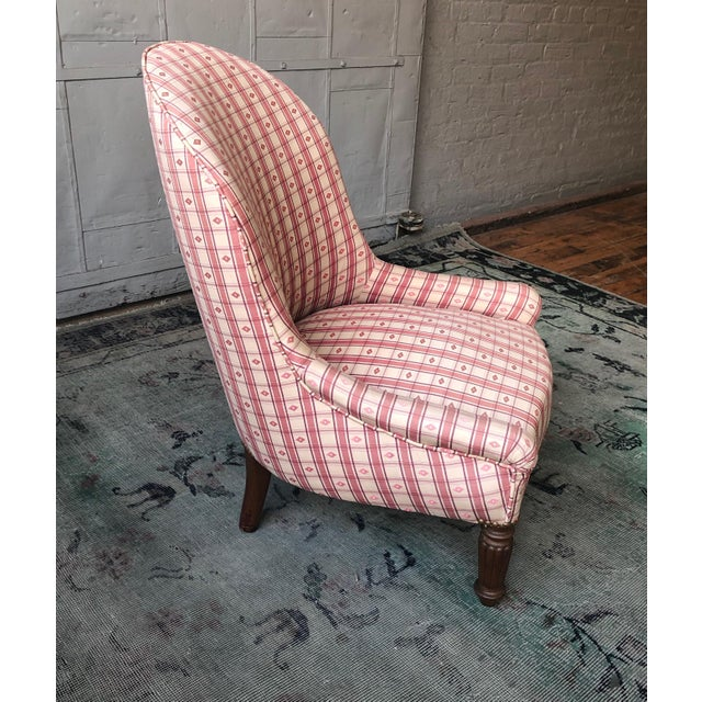 1920s 1920s Vintage French Napoleon III Style Slipper Chair For Sale - Image 5 of 10