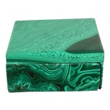 Image of Malachite Trinket Box For Sale