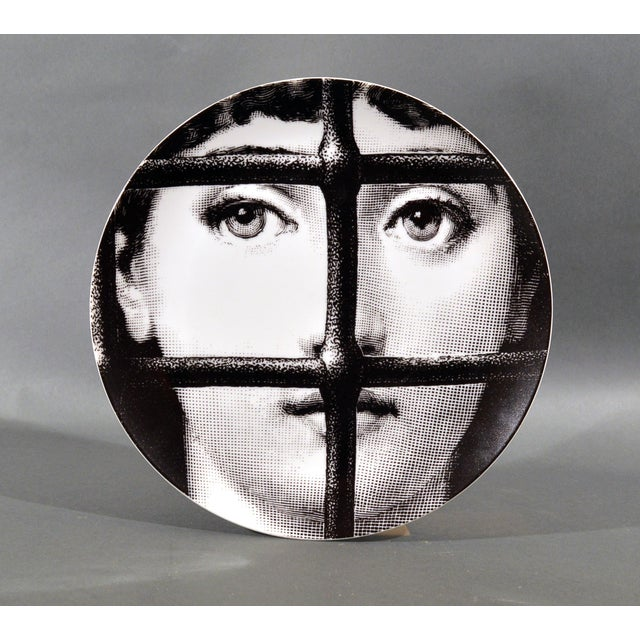 White Piero Fornasetti Porcelain Plate Themes & Variation, Pattern # 121 For Sale - Image 8 of 8